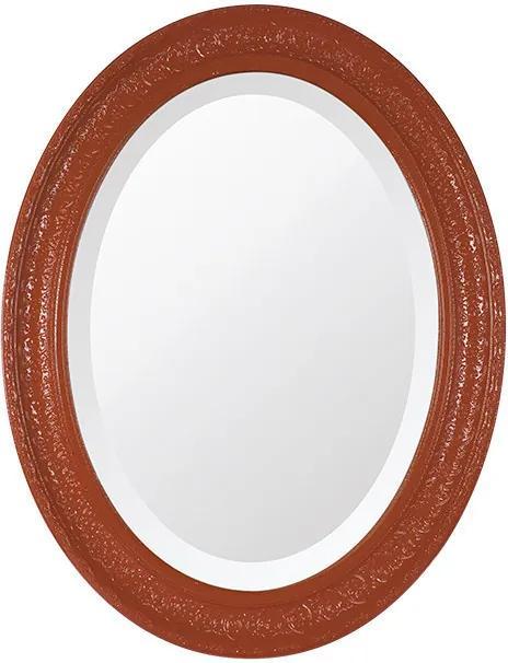 Espelho Oval Bisotê Vermelho Luxo Grande