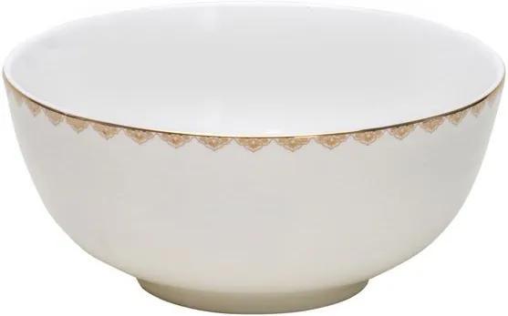 Jogo De Bowls 6 Peças Porcelana Bone China Minsk Prata 15cm 17347 Wolff