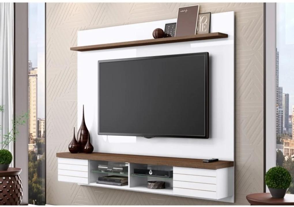 Painel Suspenso BelaFlex para TV até 70 Polegadas Esplendor Branco/Malte