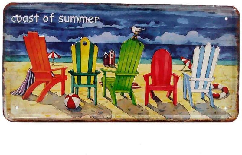 Placa De Carro Decorativa Em Alto Relevo Coast Of Summer