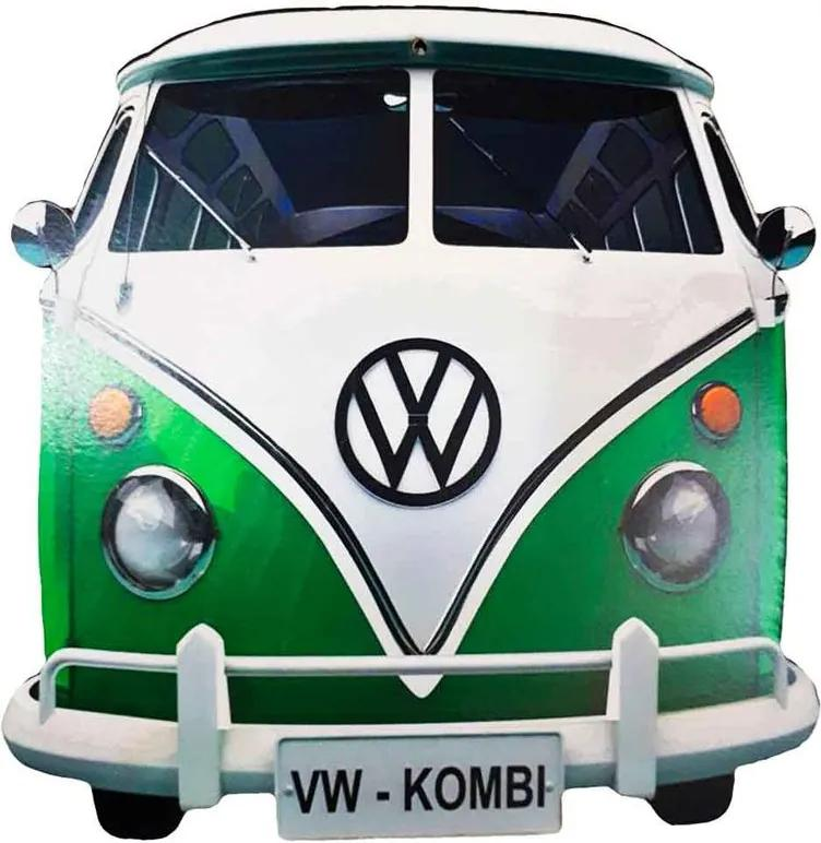 Placa Decorativa Mdf Kombi Verde