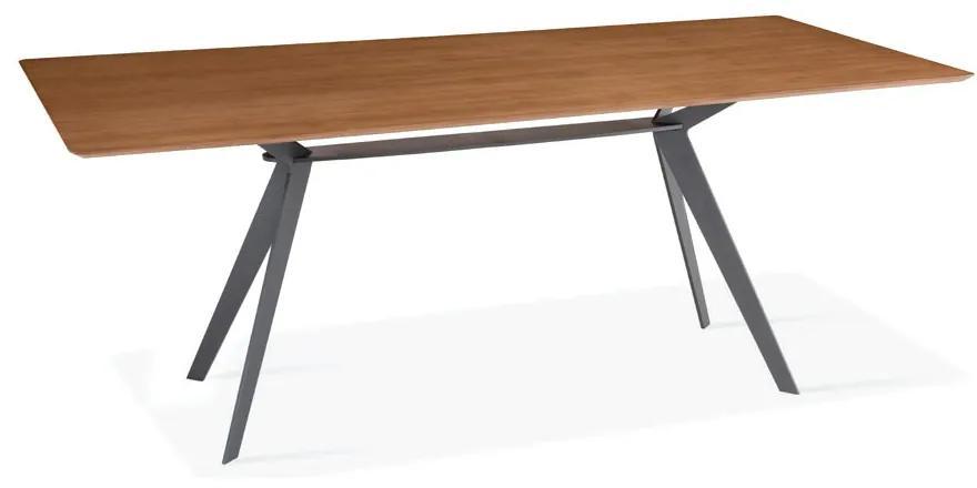 Mesa de Jantar Steel Tampo Laminado Cinamomo Design Contemporâneo Casa A Móveis