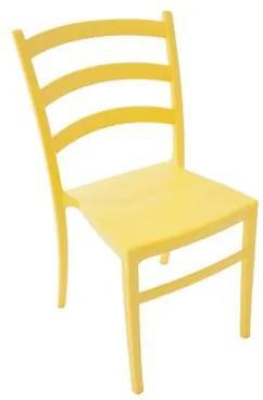 Cadeira Nádia amarela Tramontina
