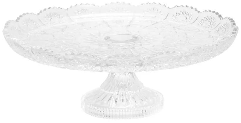 Prato Bolo Cristal Com Pé Starry 18x9cm 25542 Wolff