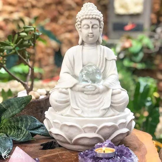 Fonte de Buda em Marmorite 32cm