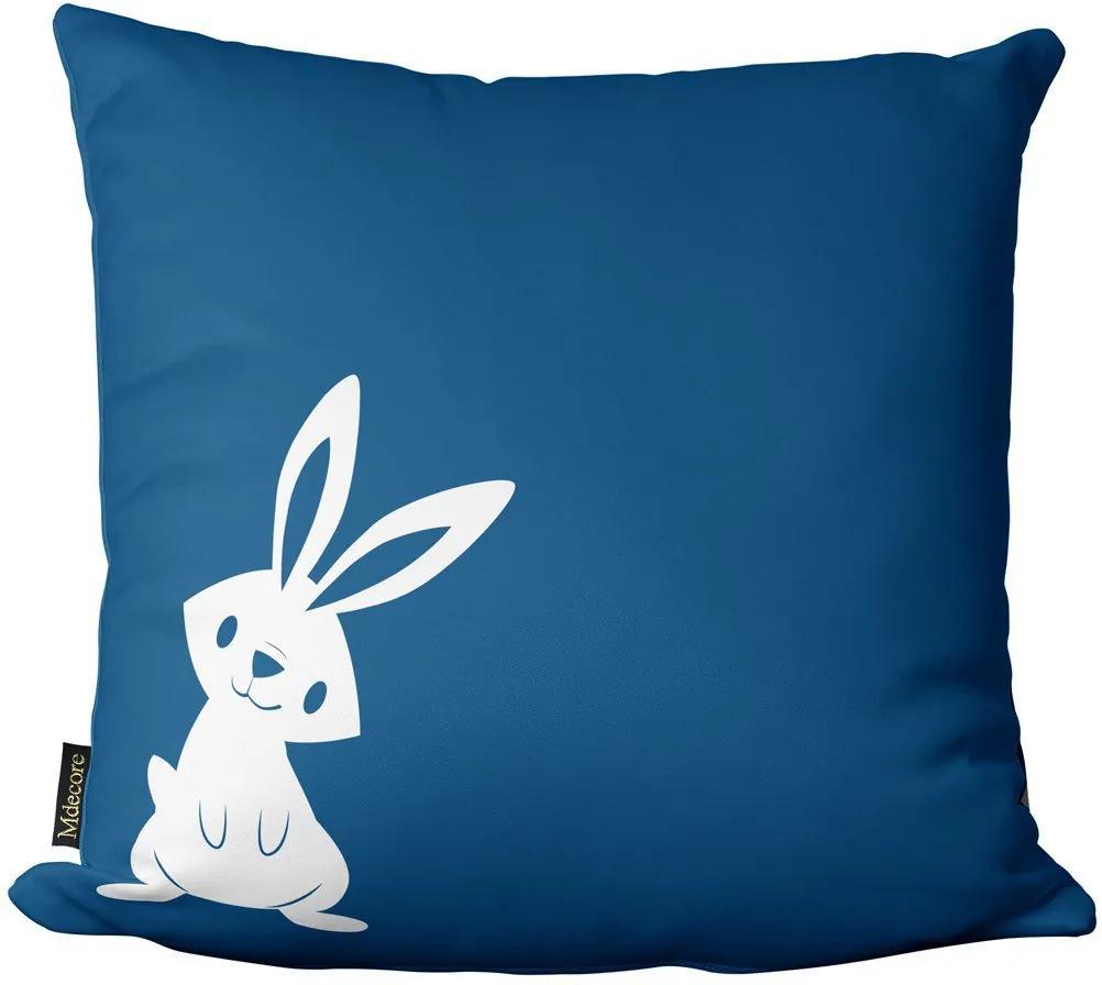 Capa para Almofada de Páscoa Coelho Azul 45x4545x45cm