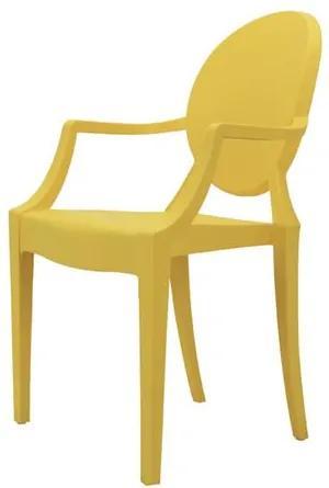 Cadeira Louis Ghost INFANTIL Com Braco Cor Amarela - 53313 Sun House