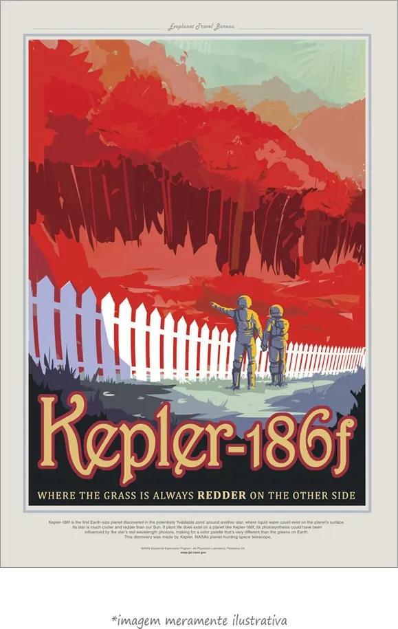 Poster Kepler186F - Cartaz De Turismo Visão Do Futuro Da Nasa Do Espaç... (60x90cm, Apenas Impressão)