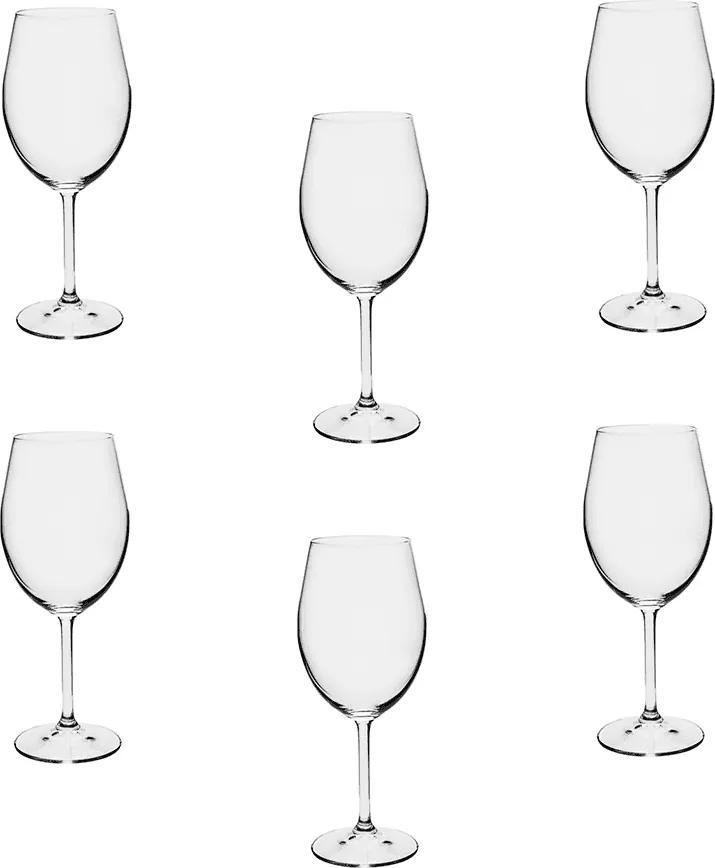 Jogo de Taças Gastro em Cristal Ecológico para Vinho Branco - 6 Peças