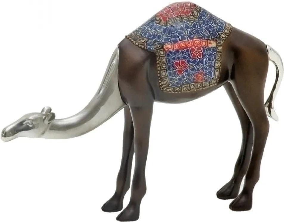 escultura camelo DURBAN resina marrom 29cm Ilunato NA0272
