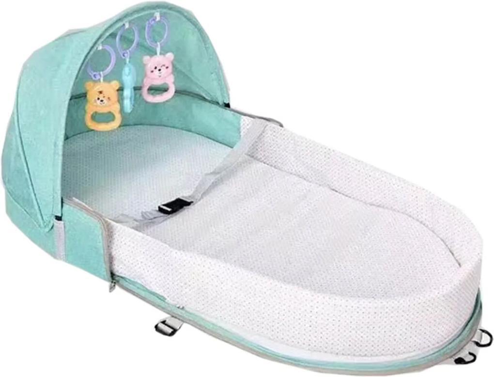 Berço Cama portátil Land mosquiteiro para bebê dormir dobrável Verde