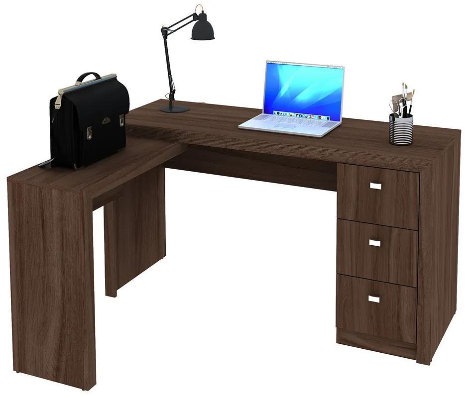 Mesa para Escritório ME4101 Carvalho - Tecno Mobili