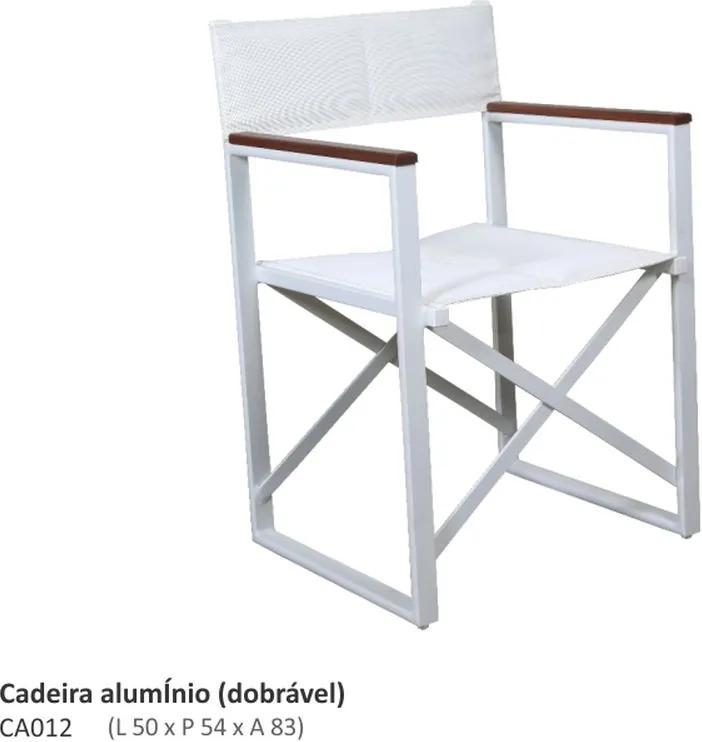 Cadeira Diretor Dobrável Alumínio e Sling L50cm x P54cm x A83cm