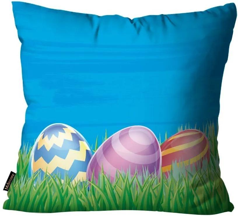 Capa para Almofada de Páscoa Ovos Azul45x45cm