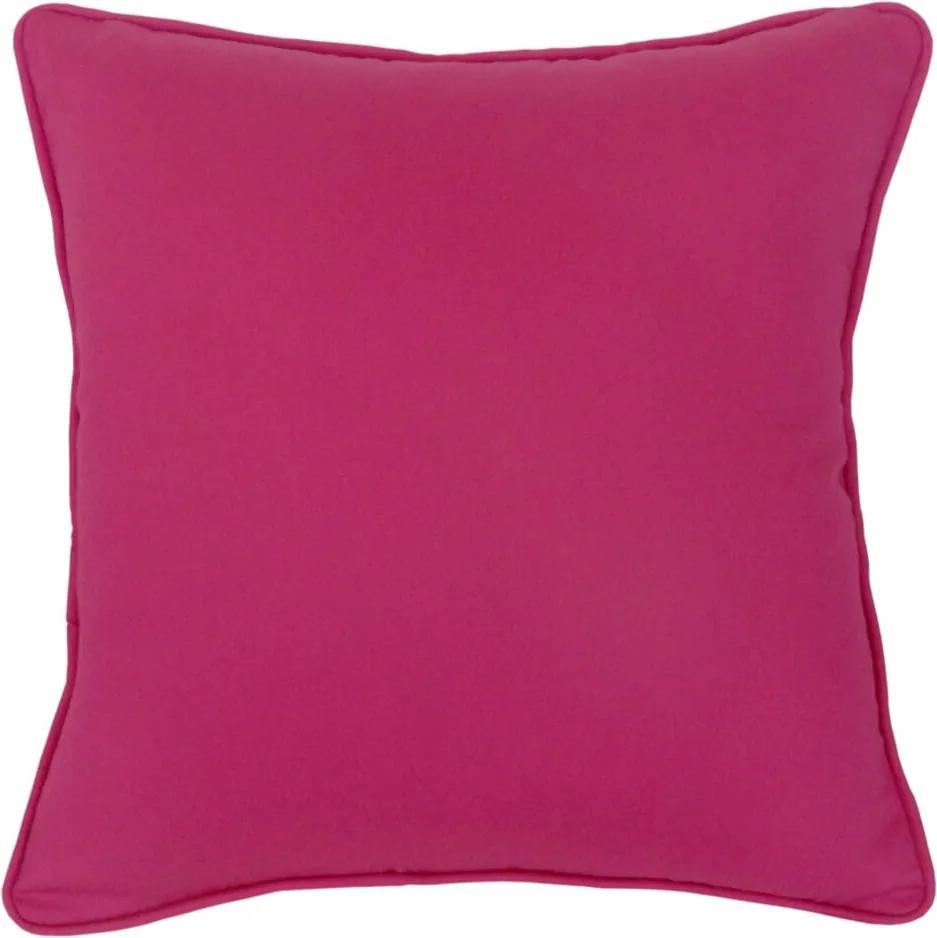 Capa Almofada Algodão Liso Rosa 45X45Cm Com Viés