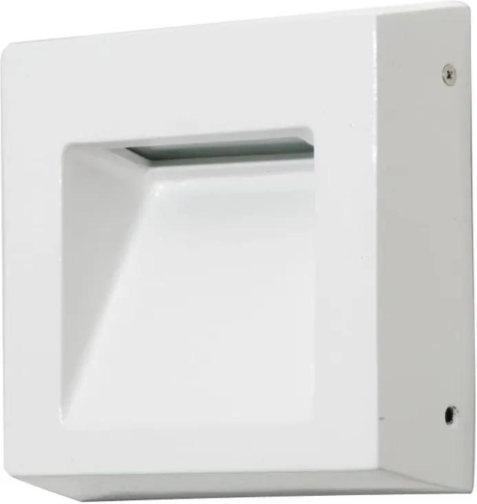 Balizador Sobrepor Aluminio Branco Ip65
