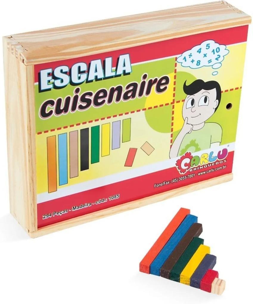 Brinquedo Educativo Escala Cuisenaire Madeira 294 Peças - CARLU