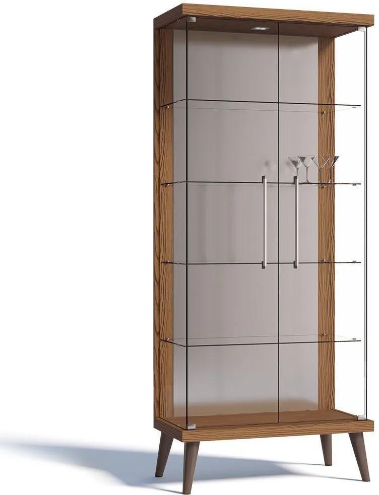 Cristaleira Tifanny 02 Portas de Vidro Freijó - Imcal