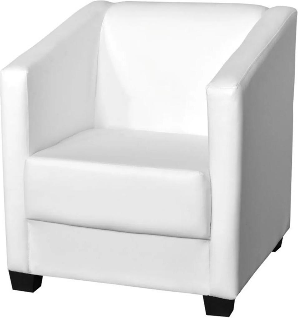 Poltrona Decorativa Valéria com Pés em PVC Corino Branco - JS Móveis