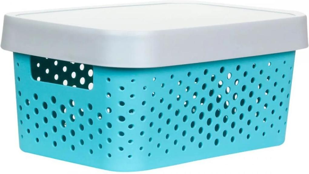Caixa Organizadora M C/ Tampa - 11L - 35Cm X 25,5Cm X 13,5Cm - Container Green
