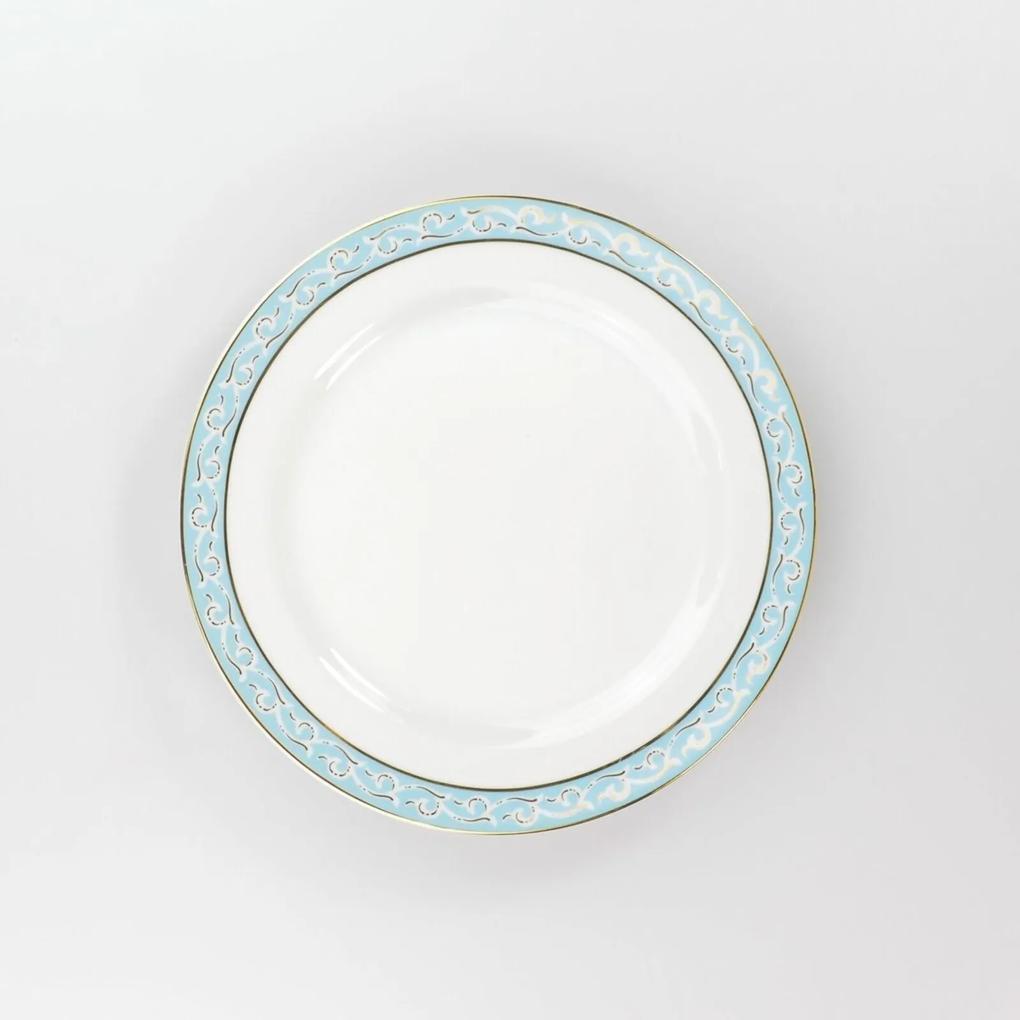 Prato Sobremesa 21 cm Porcelana Schmidt - Dec. Audrey