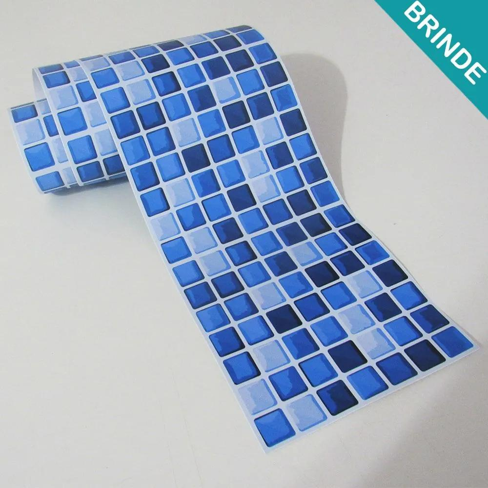 BRINDE - Faixa de Azulejo Pastilha Azul (Tamanho: 100x15cm)