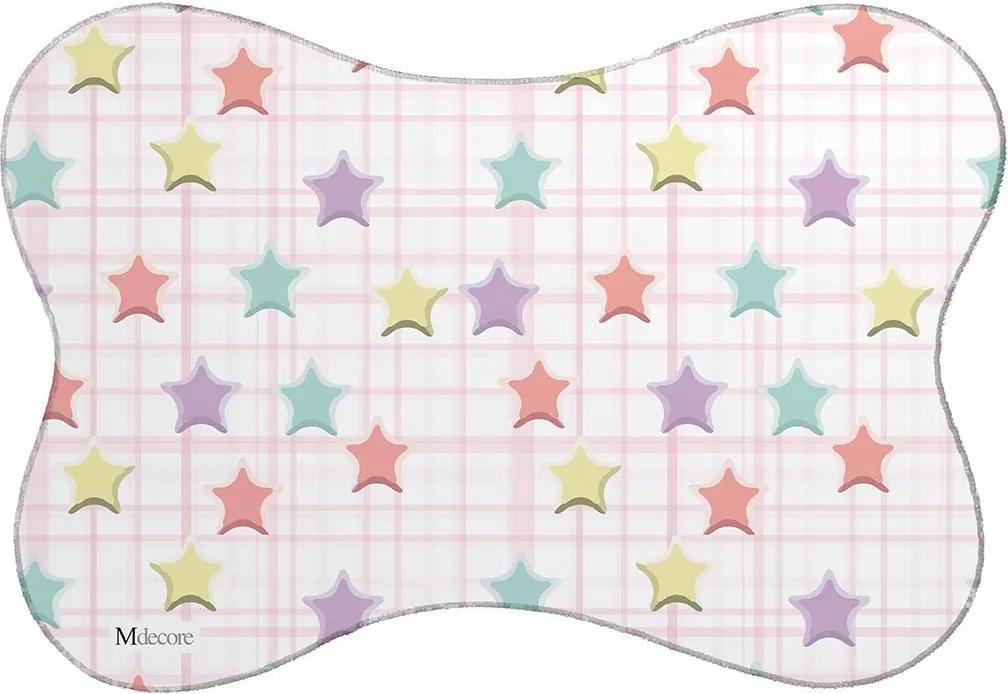 Tapete PET Mdecore Estrelas Colorido46x33cm