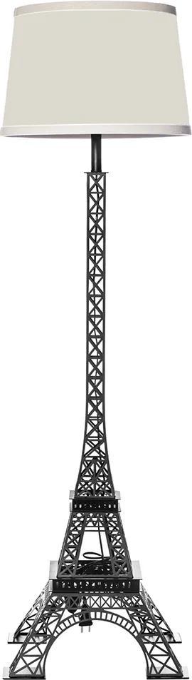 Abajur de Chão Moderno Torre Eiffel Preto 156 cm X 45 cm