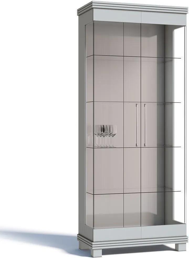 Cristaleira Cristal 02 Portas de Vidro Branco Acetinado - Imcal