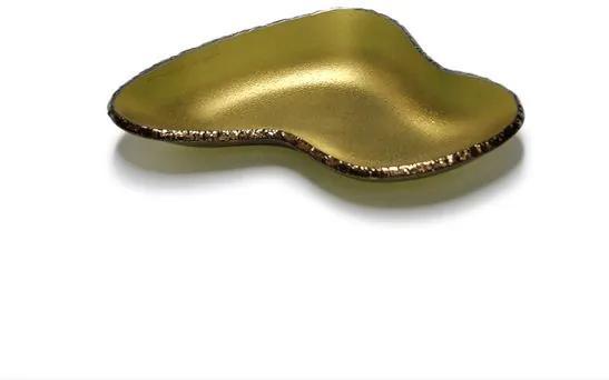 Bowl Ameba Pequeno Dourado Fosco Regina Medeiros