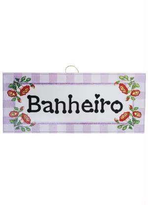 QUADRO BANHEIRO 28 X 13 CM