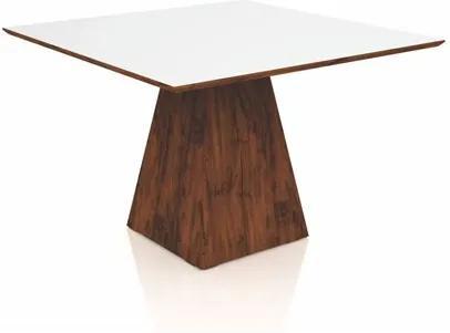 Mesa para Sala de Jantar TM59 120cm Nobre/Off White - Dalla Costa