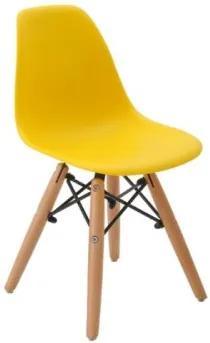 Cadeira Infantil Eames DSW Amarela