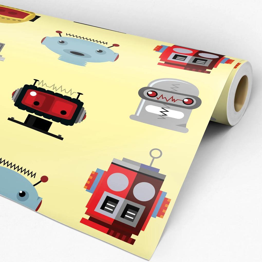 Papel de parede adesivo infantil robô