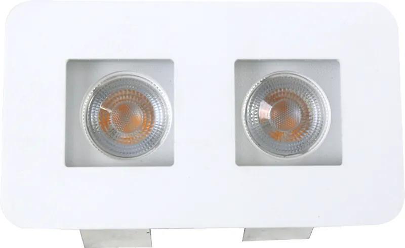 Plafon Embutir Aluminio Branco 13cm