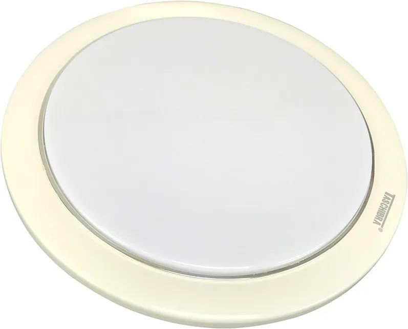 Embutido Redondo de Policarbonato branco - Taschibra - TD20