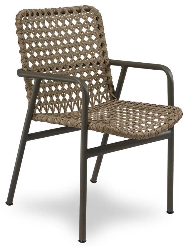 Cadeira Flora Área Externa Trama Corda Náutica Estrutura Alumínio Eco Friendly Design Scaburi