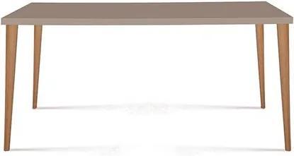 Mesa de Jantar Malibu em Madeira Maciça - Fendi 135cm