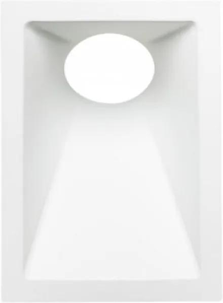 Plafon Embutir Aluminio Mr16 Gu10 40 Branco Square Angle