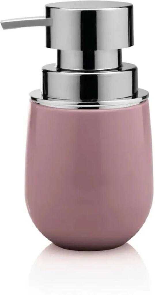 Porta Sabonete Liquido New Belly Cromo Rosa Ou Martiplast