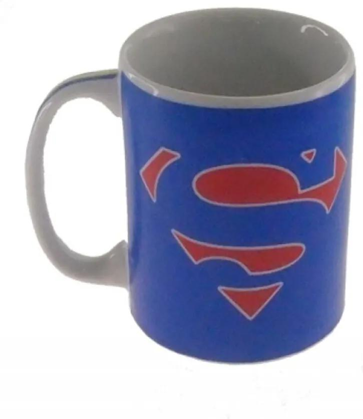 Caneca Decorativa Porcelana Herói Super Homem Cor Azul 8x8x8