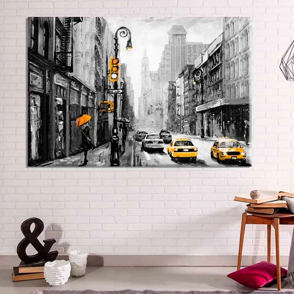 Tela Decorativa Abstrato New York Médio Love Decor
