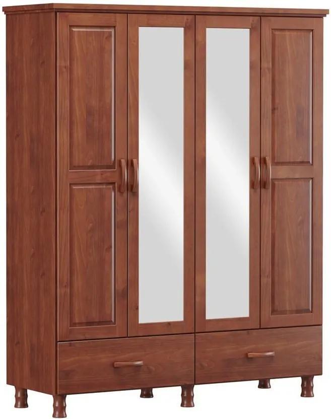 Roupeiro 4 Portas Holbox Imbuia - NS 47086