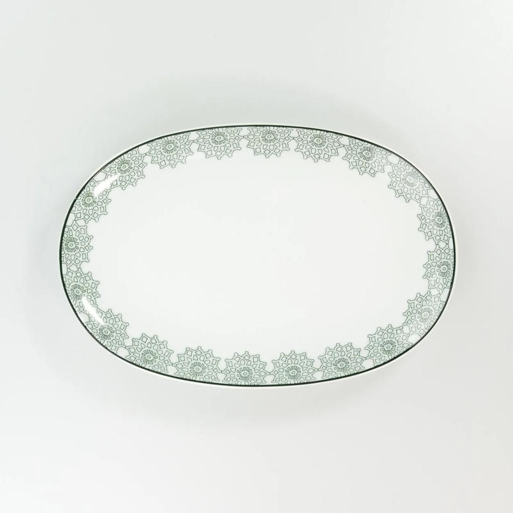 Travessa Rasa Oval 28 cm Porcelana Schmidt - Dec. Taís