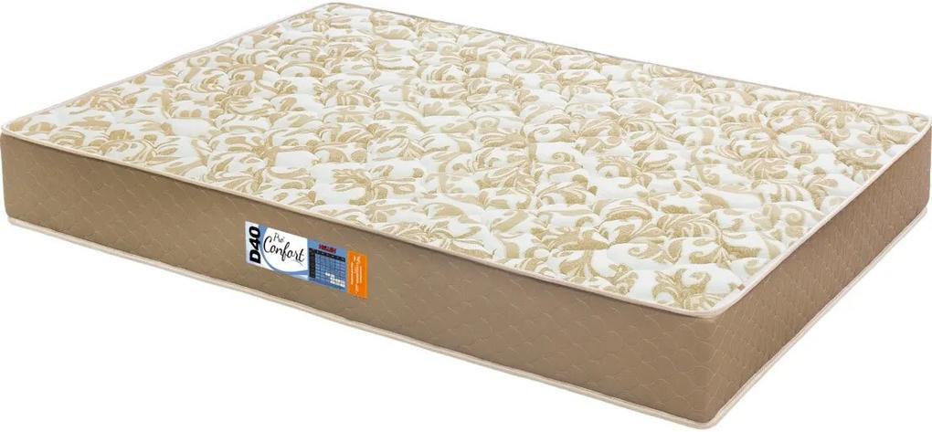 Colchão Casal Espuma Pro Confort D40 138X188X23 Caqui Hellen
