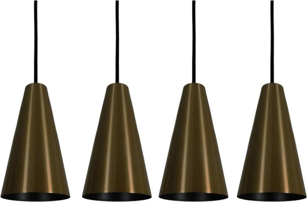 Pendente Cone Starlight Bronze Preto Kit com 4 CASAH