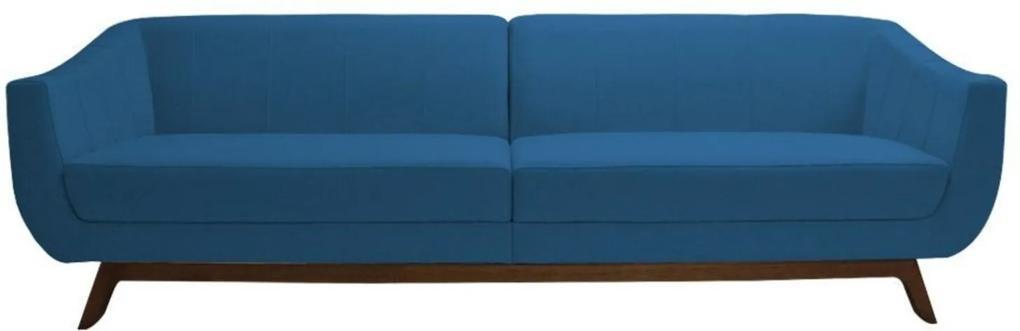 Sofá Gran Belo Decor Boomer 230cm Veludo Azul