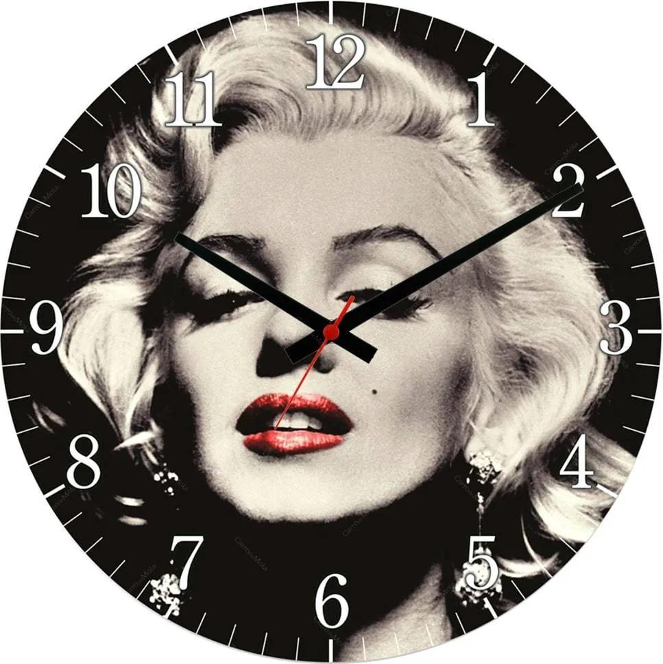 Relógio de Parede Marilyn Monroe em MDF - 28 cm
