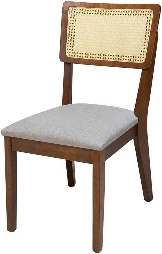 Cadeira de Jantar Antibes com Tela - Wood Prime TA 29377