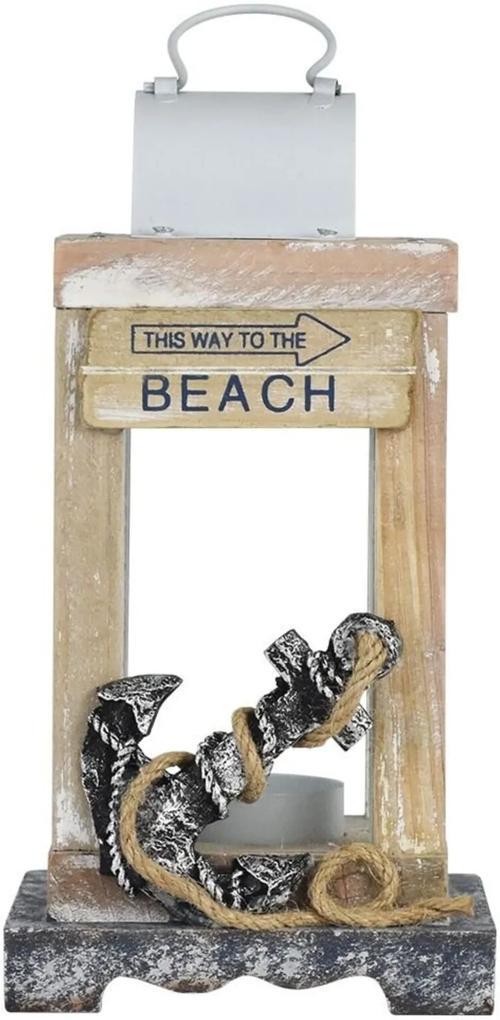Lanterna Kasa Ideia Marrom Beach Âncora Marrom